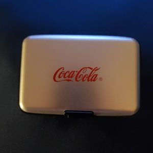 Coca Cola metal Card Holder NWT